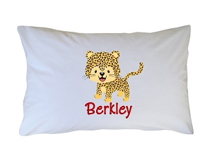 Personalized Cheetah Pillow Case for Kids, Adults and Toddler