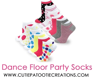 Dance Floor Party Socks for Mitzvahs -  Colorful Candy