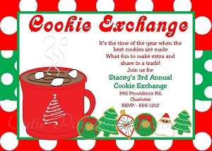 Hot Cocoa & Cookies Holiday Party Invitation for Kids or Adults - Printable or Printed