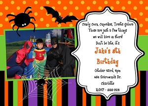Halloween Birthday Party Invitations - Printable or Printed