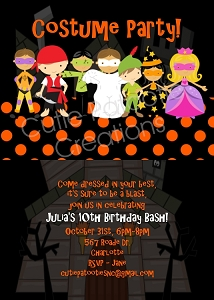 Costume Party | Halloween Party Invitations - Printable or Printed