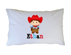 Personalized Cowboy Pillow Case for Kids, Adults and Toddler