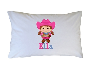 Personalized Cowgirl Pillow Case for Kids, Adults and Toddler