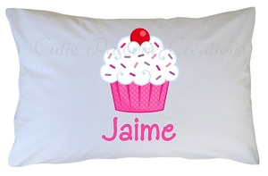 Personalized Cupcake Pillow Case for Kids, Adults and Toddler