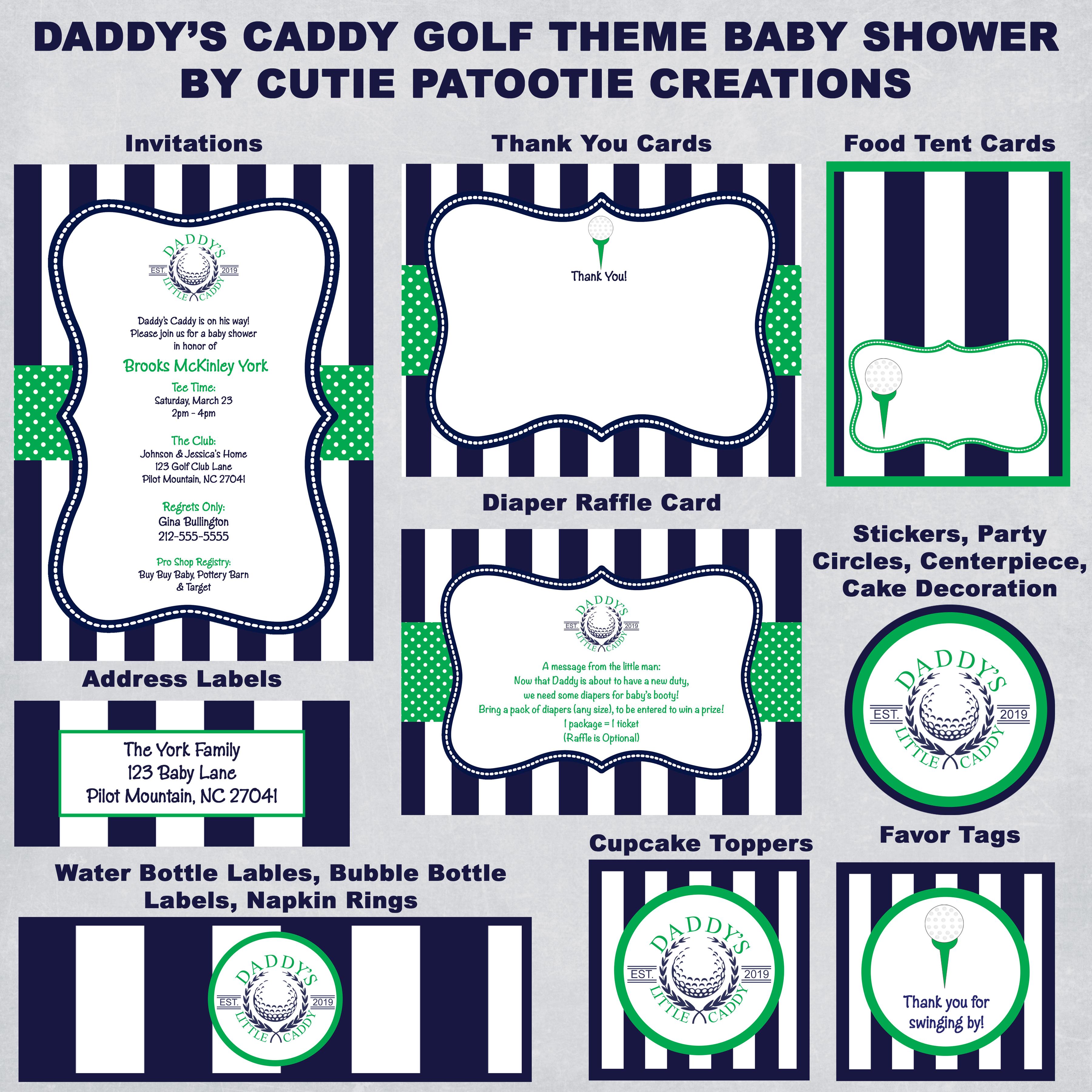 Golf Theme Daddy S Caddy