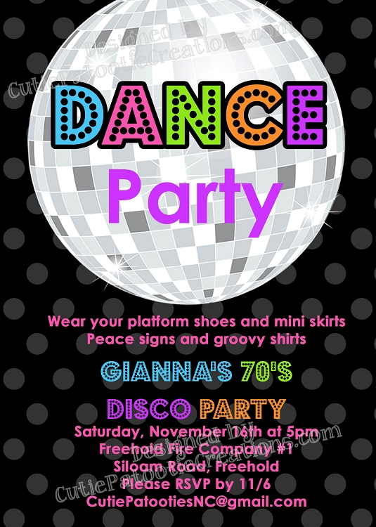 70s 80s And 90s Disco Dance Party Birthday Invitations Decorations Ideas At Home For