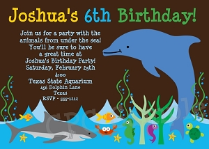 Aquarium Birthday Invitations