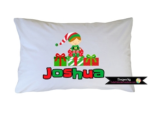 Personalized Elf Hat and Feet Pillow Case for Kids, Adults and Toddler