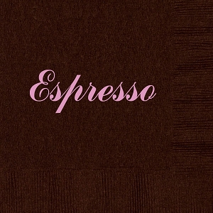 Personalized Espresso Napkins - Beverage, Cocktail, Dinner & Guest Towels