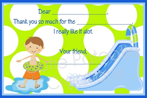 Pool Party Thank You Cards