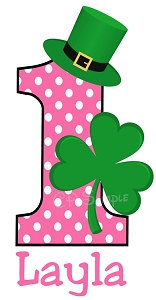 My 1st St Patricks Day TShirt or Onesie - ANY BIRTHDAY NUMBER AVAILABLE