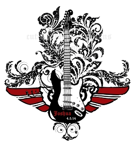 Rock and Roll Guitar Bar Mitzvah Logo