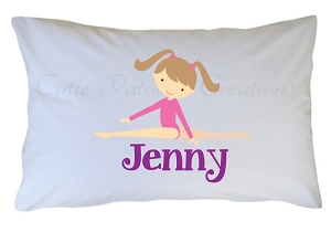 Personalized Gymnastics Pillow Case for Kids, Adults and Toddler