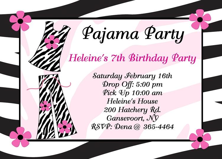 pajama party invitations sleepover invitations printable or printed