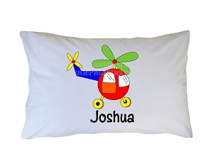Personalized Helicopter Pillow Case for Kids, Adults and Toddler