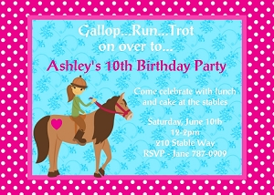 Cowgirl Birthday Invitation, Printable or Printed