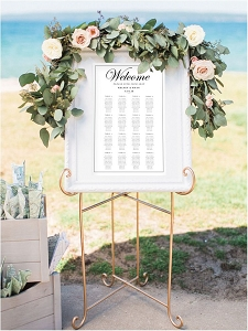 Table Seating Chart - Black and White | Custom Colors Available
