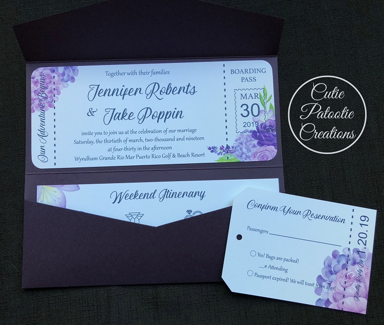 Boarding Pass Wedding Invitations.Boarding Pass Wedding Invitations Destination Wedding Invitations