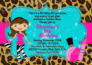 Fashion Runway Birthday Party Invitations - Printable or Printed