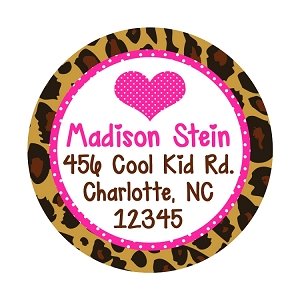 Personalized Leopard Print Gift Stickers and Address Labels