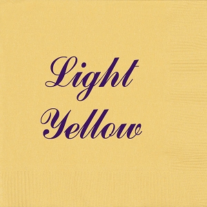 Personalized Light Yellow Napkins - Beverage, Cocktail, Dinner & Guest Towels