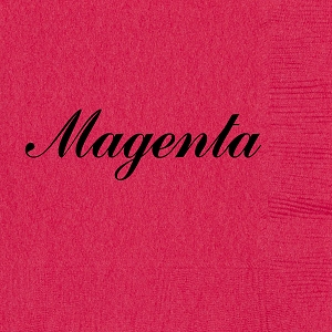 Personalized Magenta Napkins - Beverage, Cocktail, Dinner & Guest Towels