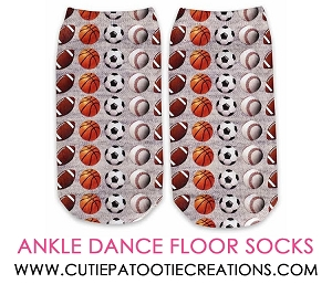 All Sports Dance Floor Party Socks for Mitzvahs - Ankle No Show Socks