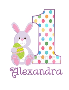 Easter Bunny Birthday TShirt Personalized