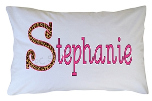 Personalized Leopard Animal Print Pillow Case for Kids, Adults and Toddler