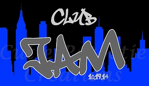 New York City Silhouette Skyline Bar Mitzvah Logo - Graffiti Club Bat Mitzvah Logo