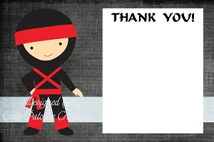 Little Ninja Thank You Cards - Personalized Thank You Notes