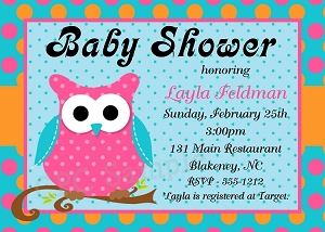 Owl Baby Shower Invitations - Gender Neutral