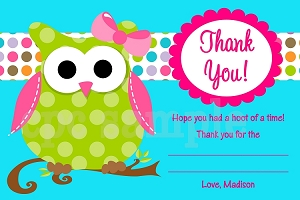 Owl Thank You Cards