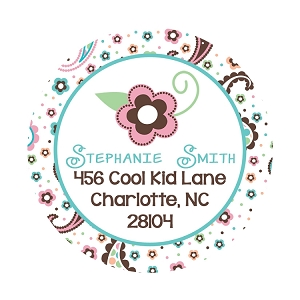 Pastel Paisley Print Gift Stickers or Address Labels