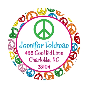 Peace Sign Gift Stickers and Address Labels