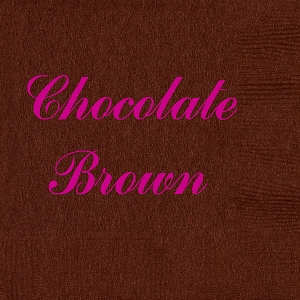 Personalized Chocolate Brown Napkins - Beverage, Cocktail, Dinner & Guest Towels