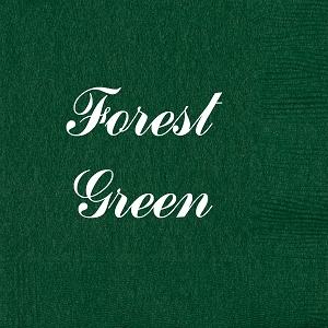 Personalized Forest Green Napkins - Beverage, Cocktail, Dinner & Guest Towels