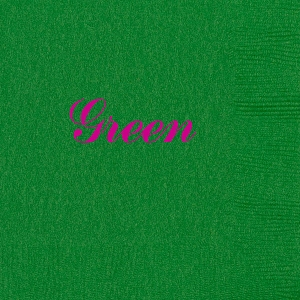 Personalized Green Napkins - Beverage, Cocktail, Dinner & Guest Towels