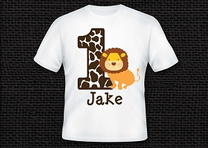 Personalized Lion Safari T-Shirt or Onesie