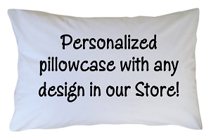 Personalized Pillowcase - Custom with Any Design Theme in our Store