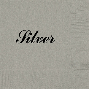 Personalized Silver Napkins - Beverage, Cocktail, Dinner & Guest Towels