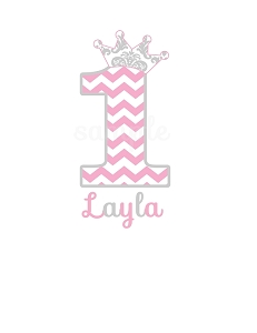 Personalized Chevron Birthday T-Shirt or Bodysuit