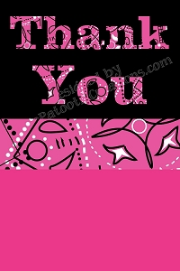 Cowgirl Thank You Cards