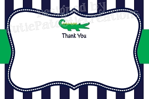 Preppy Alligator Thank You Cards