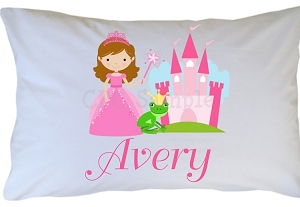 Personalized Princess Pillow Case for Kids, Adults and Toddler