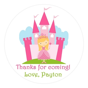 Personalized Princess Castle Stickers - Gift Stickers - Address Labels