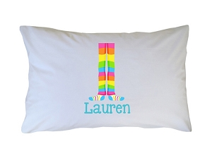 Personalized Rainbow Slippers Pillow Case for Kids, Adults and Toddler