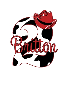Cow Print and Red Bandana Birthday Party T-Shirt or Onesie