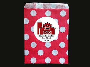 Farm Goodie Bags and Stickers - Personalized Treat Bags, Party Favor Bags