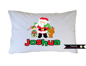 Personalized Santa Claus, Reindeer, Elf Pillow Case for Kids, Adults and Toddler